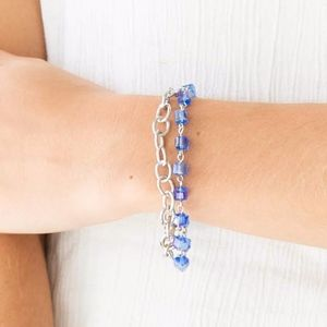 Free with Bundle Life of the Party Blue Bracelet